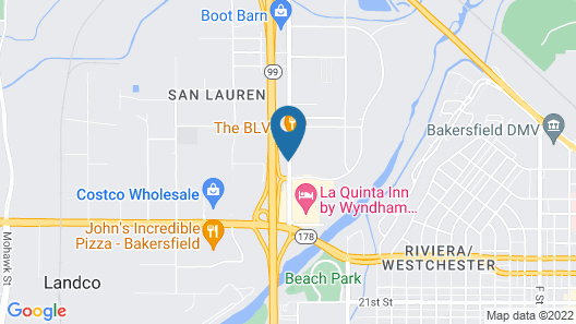 Holiday Inn Express and Suites Bakersfield Central, an IHG Hotel Map