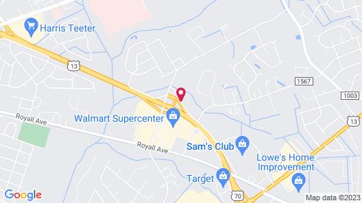TownePlace Suites Goldsboro Map