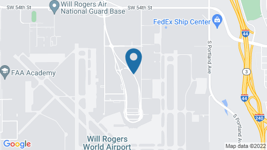Quality Inn Oklahoma City Airport Map