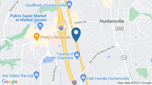 Best Western Plus Huntersville Inn & Suites Near Lake Norman Map