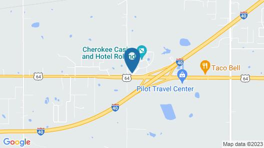Cherokee Casino & Hotel Roland Map