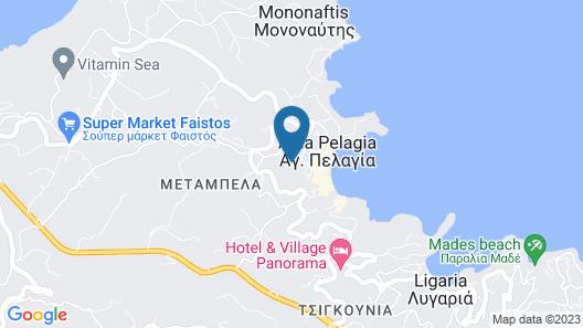 Gras Houses Agia Pelagia Map