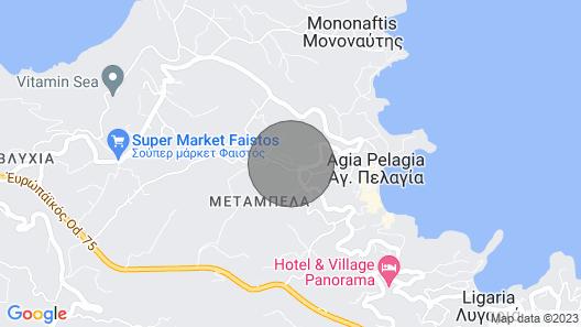 Olive green house maisonette,Agia Pelagia,Greece,Crete . Map