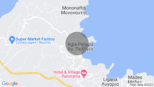 Gras House 1 in Agia Pelagia, Just 500 Metres From the Beach Map