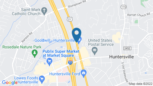 Comfort Suites Lake Norman - Huntersville Map