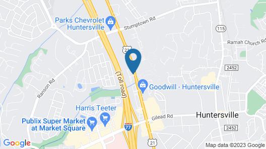 My Place Hotel - Huntersville, NC Map