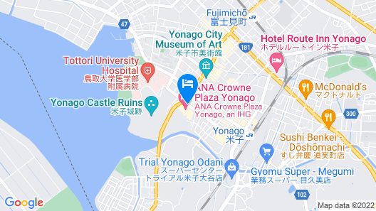 ANA Crowne Plaza Yonago Map