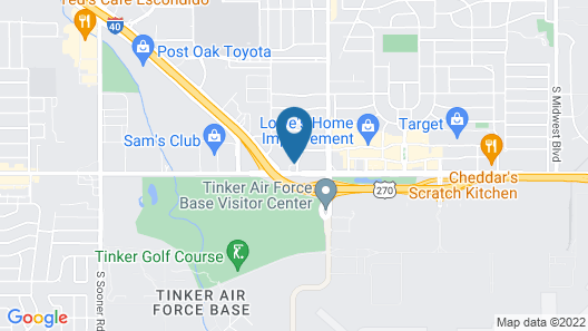Travelers Inn Midwest City Map