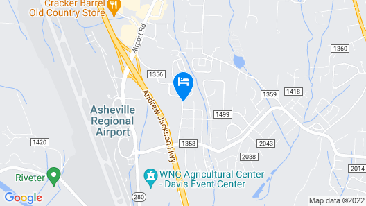 Super 8 by Wyndham Asheville Airport Map