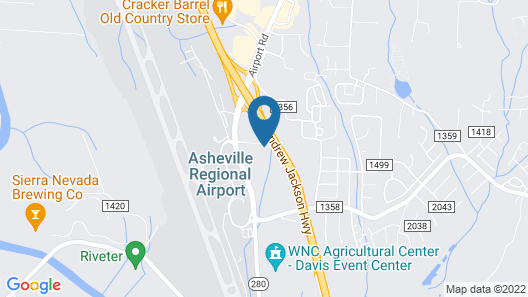 Wingate by Wyndham Fletcher at Asheville Airport Map