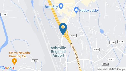 Clarion Inn Asheville Airport Map