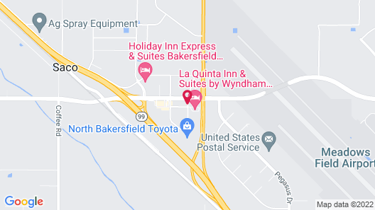 Hampton Inn & Suites Bakersfield North-Airport Map
