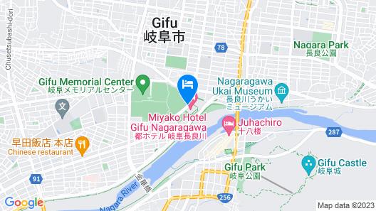 Miyako Hotel Gifu Nagaragawa Map