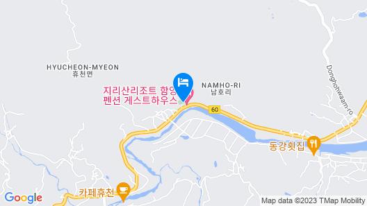 Hamyang Jiri Resort Bed and Breakfast Map