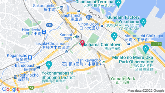 Hotel Wing International Yokohama-Kannai Map