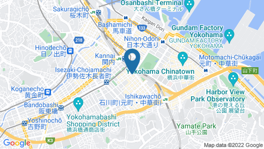 Hotel Wing International Yokohama-Kannai Map