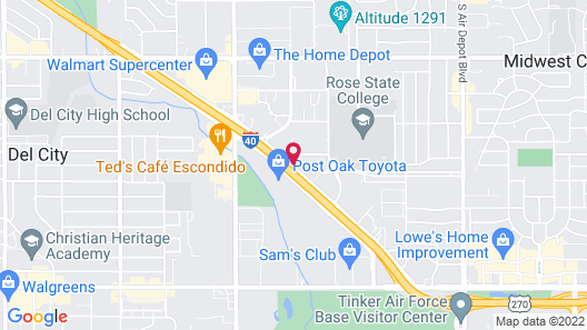 Studio 6 Midwest City, OK - Oklahoma City Map