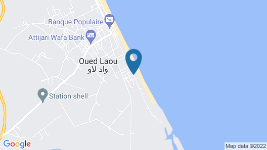 Résidence Hajar Oued Laou Map