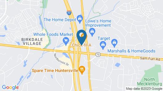Quality Inn Huntersville near Lake Norman Map