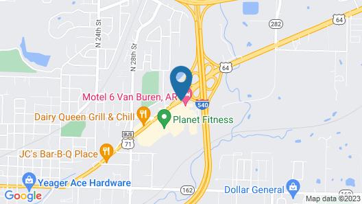 Motel 6 Van Buren, AR Map