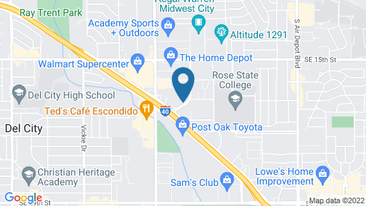 Hampton Inn Oklahoma Cty-I-40 E.(Tinker AFB) Map