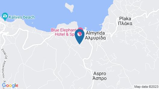 Almyrida Bay Map