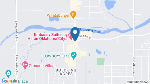 Embassy Suites Oklahoma City Will Rogers Airport Map