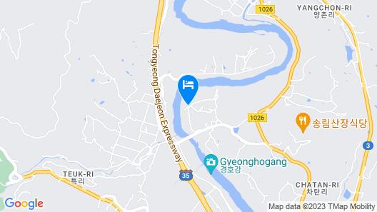 Sancheong Dream Healing Pension Map