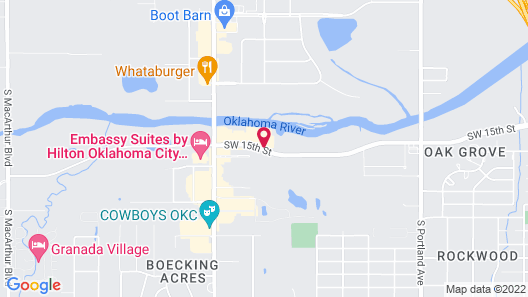 Hampton Inn & Suites Oklahoma City Airport, OK Map