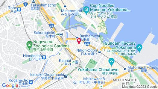 Hotel Route-Inn Yokohama Bashamichi Map
