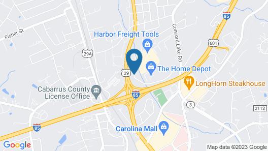 Comfort Inn & Suites Kannapolis - Concord Map