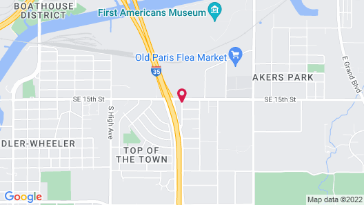 Holiday Inn Express & Suites Oklahoma City Southeast I-35 Map