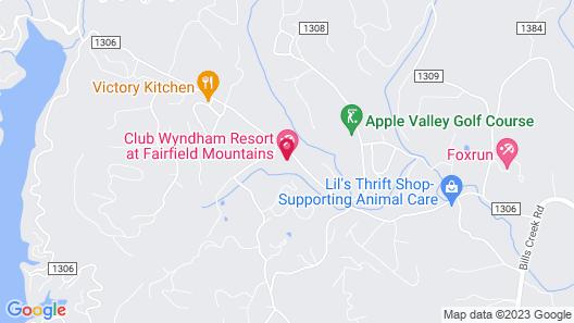 Club Wyndham Resort at Fairfield Mountains Map