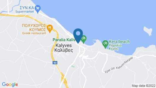 Hotel Kalyves Beach Map