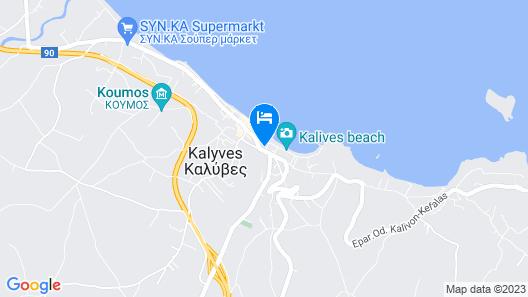Hotel Kalyves Beach Map