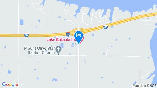Lake Eufaula Inn Map