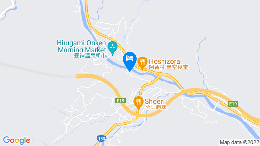 Nagano hirugami hot spring Hirugami-no-Mori Map