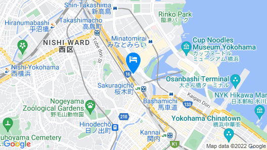 New Otani Inn Yokohama Premium Map