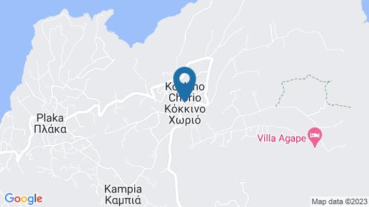 Electra Villas at Kokkino Chorio Map