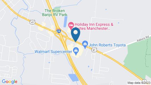 Motel 6 Manchester, TN Map