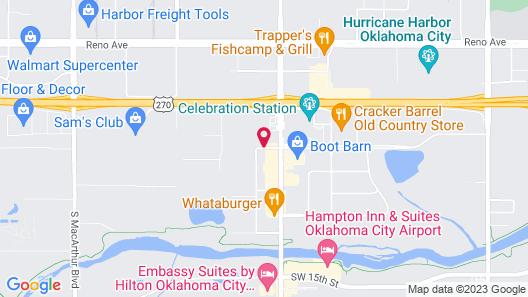 Sleep Inn Oklahoma City Map