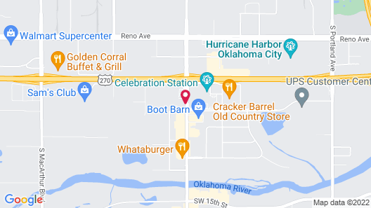 Hilton Garden Inn Oklahoma City Airport Map