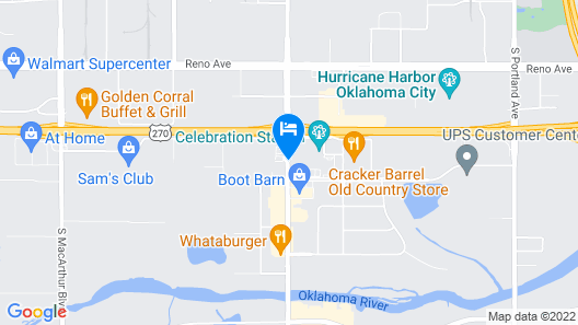 La Quinta Inn & Suites by Wyndham Oklahoma City Airport Map