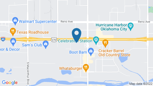Four Points by Sheraton Oklahoma City Airport Map