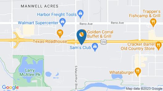 BestWay Inn Oklahoma City Airport Map