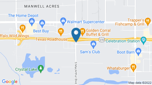 Microtel Inn & Suites by Wyndham Oklahoma City Airport Map