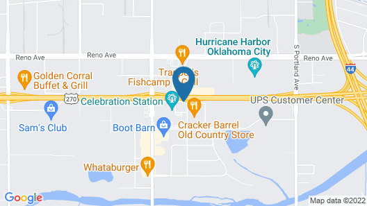 WoodSpring Suites Oklahoma City Airport Map