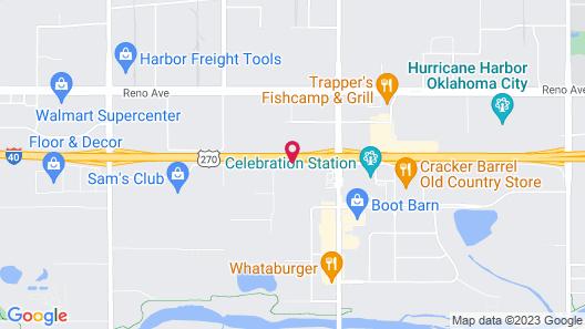 Radisson Oklahoma City Airport Map