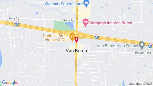 Motel 6 Van Buren Ar Map