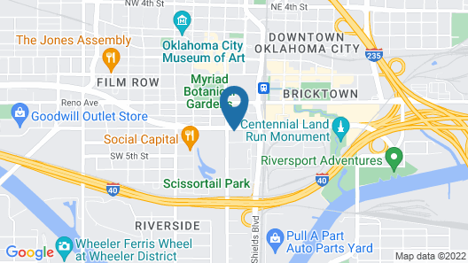 Omni Oklahoma City Hotel Map